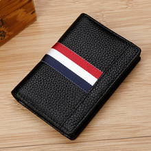 Купить с кэшбэком Kweco Vader Genuine Leather Women Wallets Credit Card Holder Mini Wallet Hit Color Men's Cardholder Leather Cards Cover Purse