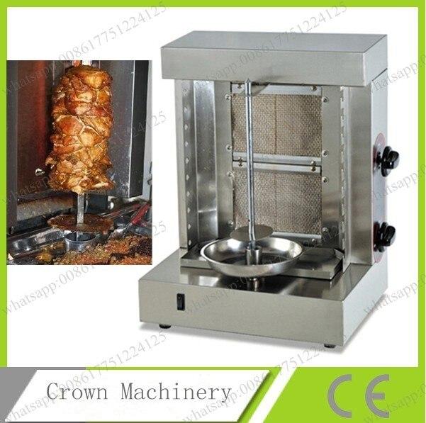 Gas Stainless Steel Bbq Skewers Shawarma Machine Bbq Kebab