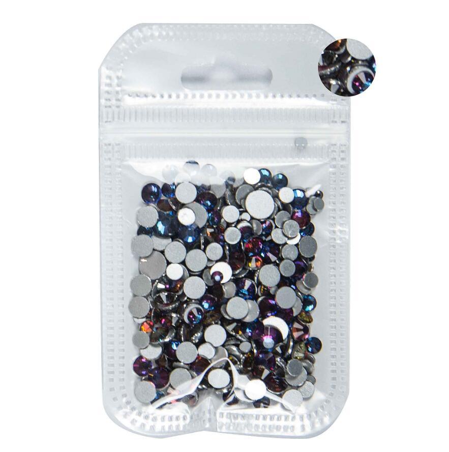 350 шт, 5 грамм, смешанные размеры, ss3-ss30, синий/зеленый/розовый/белый опал, 3D хрустальные стразы для дизайна ногтей, плоские с оборота стеклянные украшения для ногтей - Цвет: Volcano