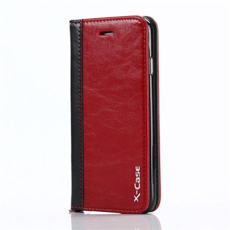 Para Funda iPhone 8 7 6 Plus 5 Funda de cuero con tapa de cuero - Accesorios y repuestos para celulares - foto 3