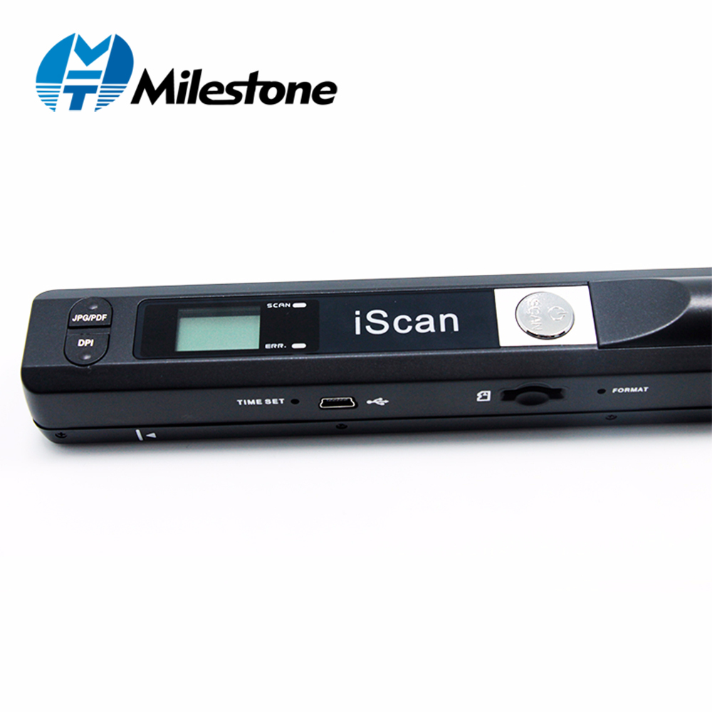 Milestone Wireless Document Scanner Scan A4 File Papers Support Window System Device for School Hospital Bank