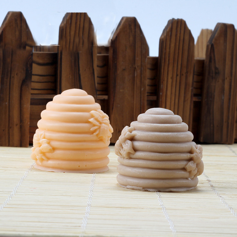 3D Bee Hive Cake Fondant Mold Handmade Candle Soap Mold Silicone Kitchen Craft Gum Paste Cake Baking Decorating Tools