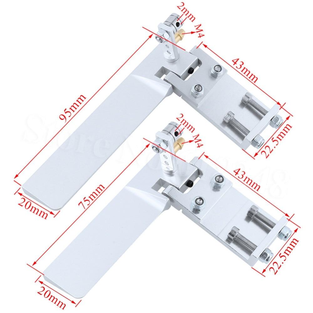 1 Pair Gouvernail Angle Gouvernail Servo Angle pour RC avion