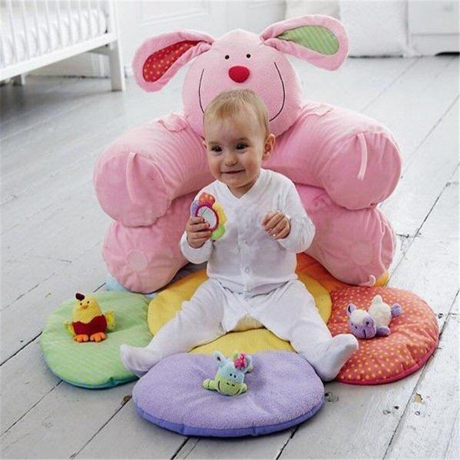 Populaire fleur ferme assis-moi confortable gonflable bébé canapé siège infantile jouer tapis enfant en bas âge assis jouet en vrac emballage 7 Styles