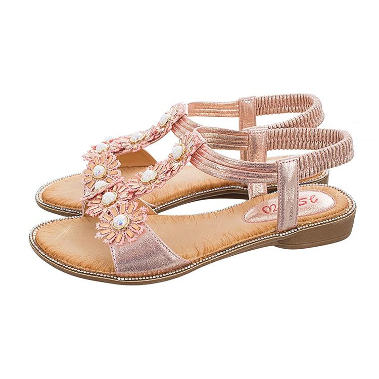 MLJUESE 2018 vrouwen sandalen zomer BOXIMIYA stijl elastische band - Damesschoenen - Foto 3