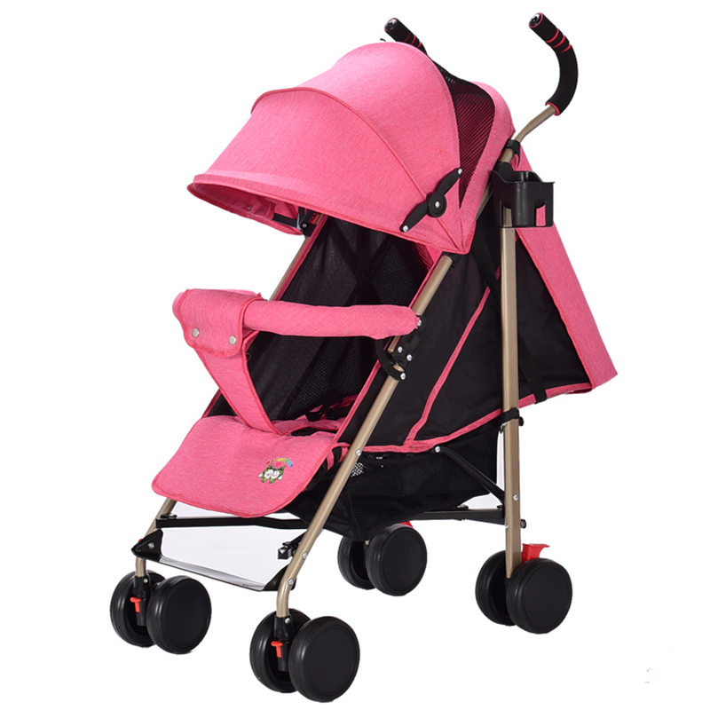 Super Lightweight Portable Folding Baby Strollers carrinho Can Sit & Lie Comfortable Linen Cloth Baby Trolley Umbrella Pushchair