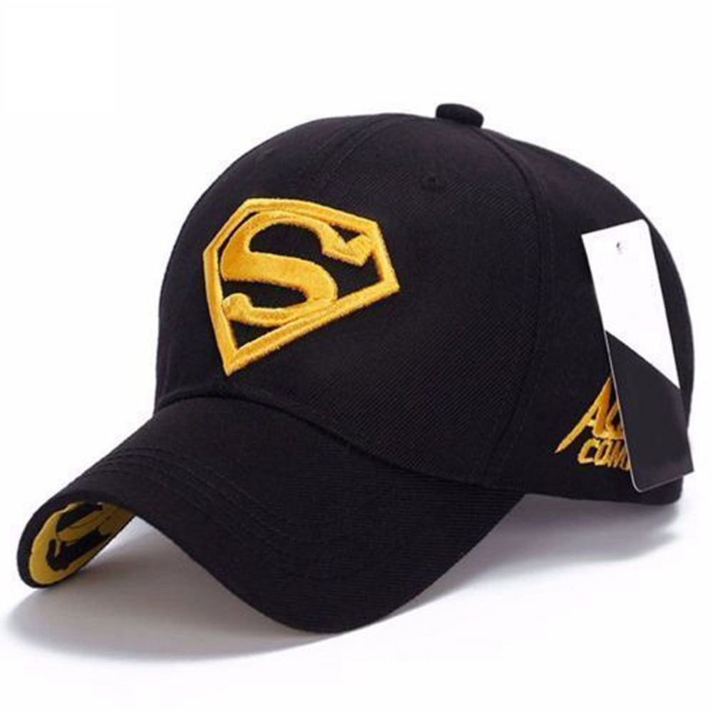 EFINNY Fashion Men Women Snapback   Baseball     Cap   Adjustable Fit Hat Superman Hip-hop Stretch Black White Patchwork Hat