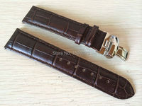 20mm Buckle18mm T063639 T063617 High Quality Silver Butterfly Buckle T063610 Brown Genuine Leather Watch Bands Strap