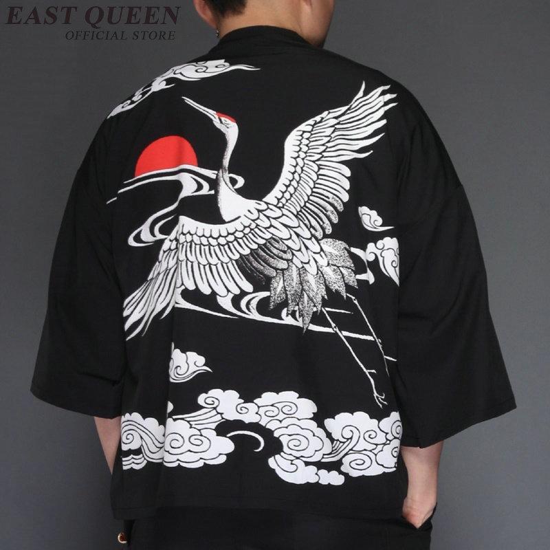 Japanese kimono traditional kimono cardigan punk casual loose tops kimonos kimono cardigan new summer 2018 AA3825 Y A