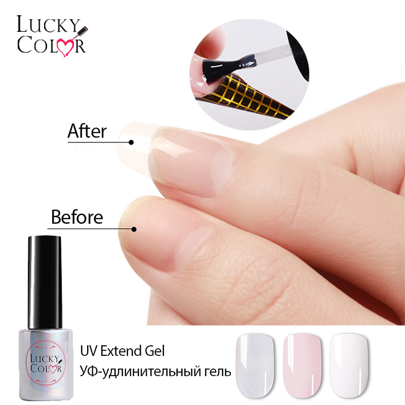 UV Builder Nail Extend Gel Polish Pink White Clear Acrylic Liquid Mixed With Power Gel Lacquer For False Nail Art 1 Bottle 10ml