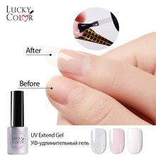 UV Builder Nail Extend Gel Polish Pink White Acrílico Líquido Mezclado Con Poder Gel Laca Para Falso Nail Art 1 Botella 10ml