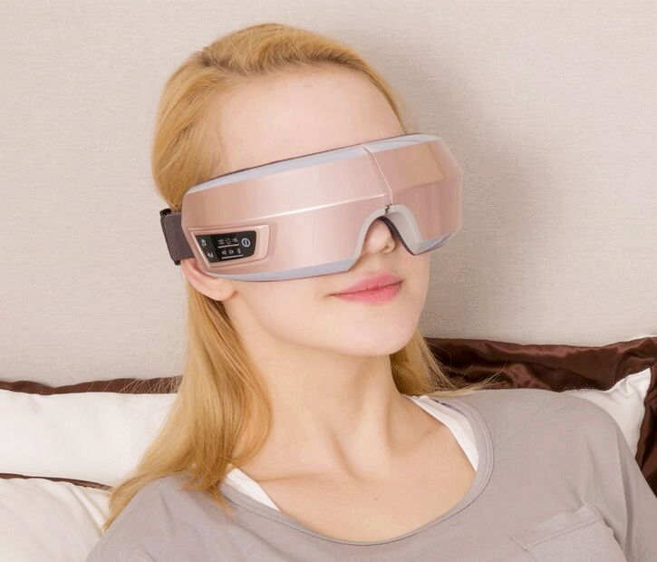 Healthsweet presión de aire masajeador de Ojos con funciones de mp3. Wireless vibración ojos calefacción de infrarrojo lejano magnética. cuidado de los ojos gafas