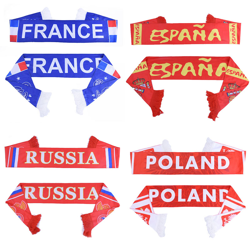 World soccer Cup Russia football Scarf World National Team Scarf 32 Teams Flag Banner Football Cheerleaders Scarves  ...