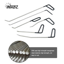 WHDZ 6PCS PDR Tool Kit - Perfect for Door Dings Hail Repair and Dent Removal POD Hook - Dent Repair Tool Set (C)(China)