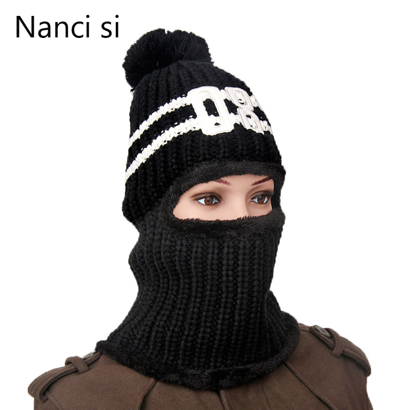 Brand Nanci si 2017 New Casual Bonnet Winter Hat Beanie Hats Warm Baggy Knitted Skullies Ski Sports Beanies Cap For Men Women цены онлайн