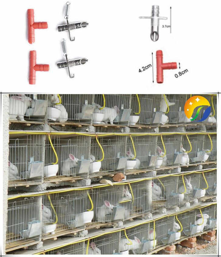 Alloy 20 Sets Automatic Rabbit Water Feeder Waterer Bunny Nipple Waterer