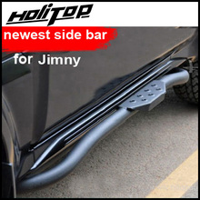 running board side step nerf bar for Suzuki Jimny ,newest producst, SUV side bar specialist, old seller,free shipping to Asia. black curved end side step nerf bar for 2005 2017 toyota tacoma double cab 3 running boards car pedals accessories auto parts