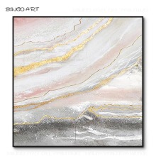 Hand-painted High Quality Big Size Abstract Oil Painting on Canvas Gold Foil for Living Room