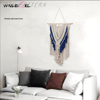 WLG hanging decoration Nordic style home simple decoration pendant Bohemian famous wind cotton Line tapestry decoration
