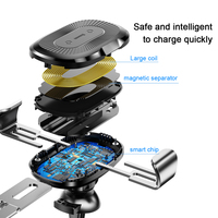 Baseus Wireless Charger Car Holder For iPhone 11 Pro Max USB Wireless Charging For Samsung S9 Note 9 Air Vent Car Mount Holder 4
