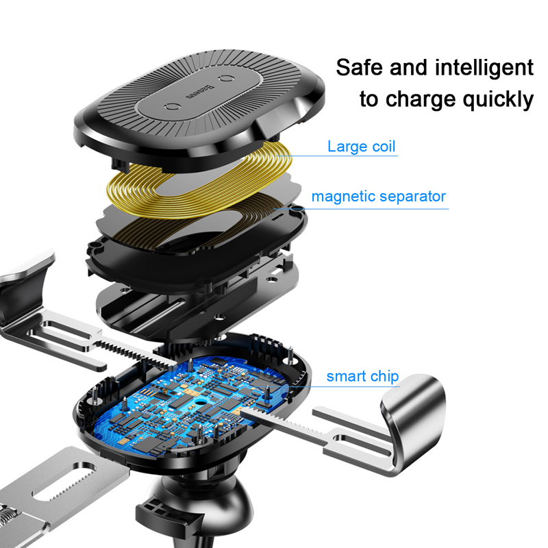 Image 5 - Baseus Wireless Charger Car Holder For iPhone 11 Pro  Max USB Wireless Charging For Samsung S9 Note 9 Air Vent Car Mount Holder-in Wireless Chargers from Cellphones & Telecommunications