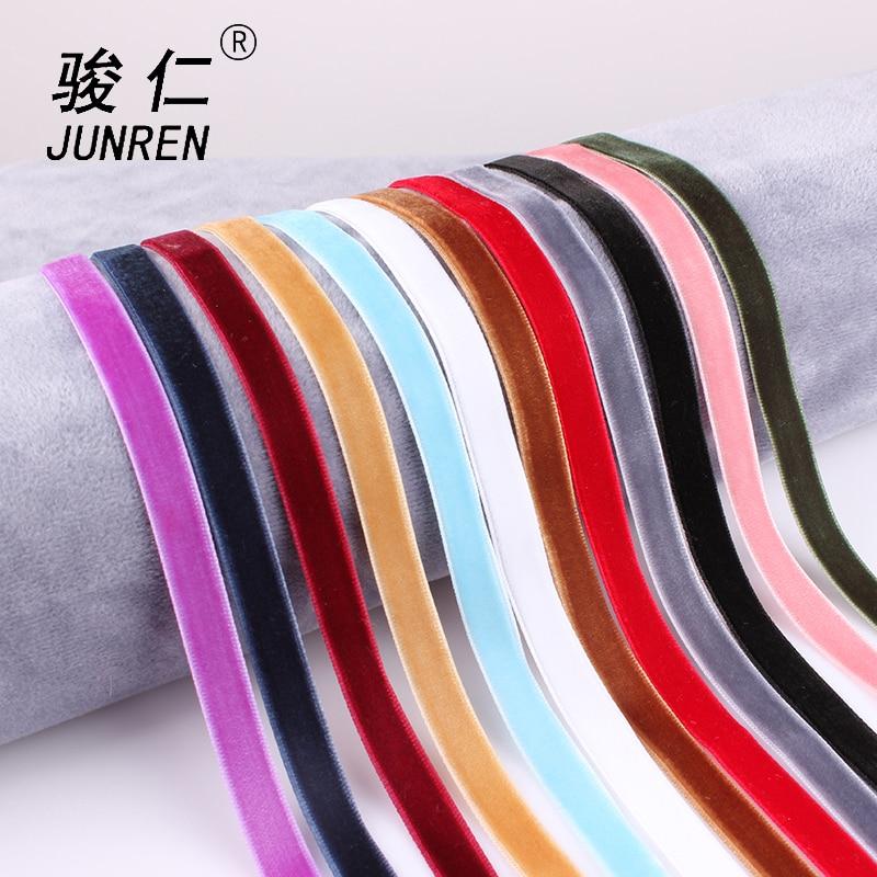 Mix 12 colors 12Pcs/Set 10mm Velvet Choker Necklaces For Women Girls Punk Gothic Pendant Necklace Cho collier ras du cou