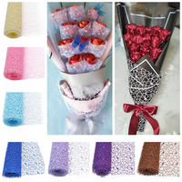 Hollow Organza Jacquard Mesh Roll For Floral Bouquet Gift Box Wrapping Flower DIY Crafts Wedding Decoration