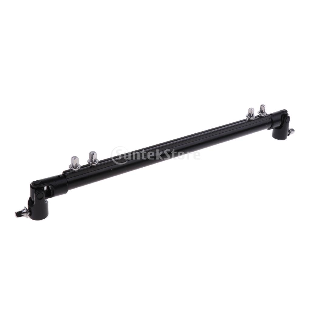 Black Double Bass Kick Drum Pedal Link Linkage Connecting Bar Driveshaft Rod for Parts Accessories