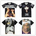 Summer Fashion emoji tshirt women/men 3d t shirt rap godfather 2pac t-shirt Unisex Tee Tops camisa masculina plus size M-XXL