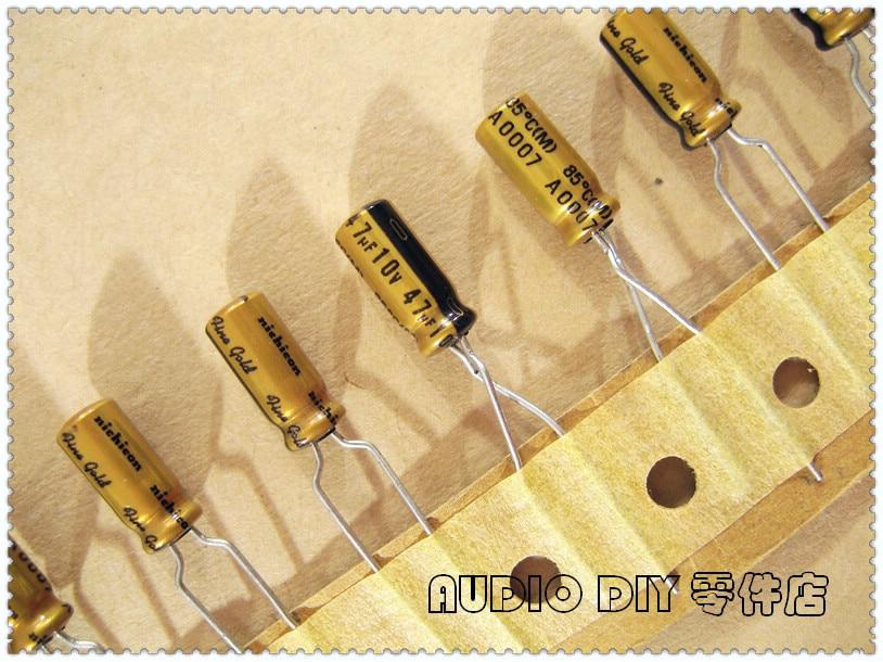 10pcs 10V47uf 10V Nichicon FG Muse capacitor 5x11mm Fine Gold for Audio
