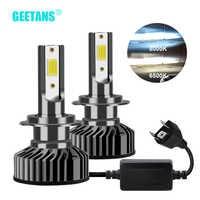 GEETANS H7 H4 LED reflektorów samochodu H1 H3 H8 H11 LED 9005 HB4 9006 HB5 HB3 HB2 9003 9004 9007 samochód żarówka 6500K Canbus