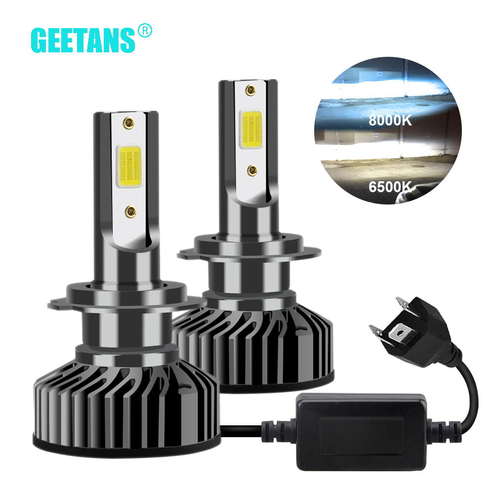 GEETANS H7 H4 <font><b>LED</b></font> Car Headlight H1 <font><b>H3</b></font> H8 H11 <font><b>LED</b></font> 9005 HB4 9006 HB5 HB3 HB2 9003 9004 9007 Car Lights Bulb 6500K <font><b>Canbus</b></font> image