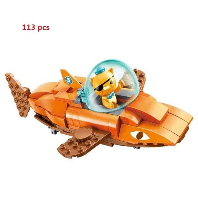 Free Shipping Octonauts Block Building  GUP-B Tiger Shark Vehicle Figures Toys Christmas child gift Educational Toys