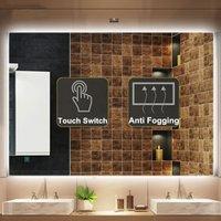 Ванная комната для ванной светодиодные настенные зеркала с подсветкой света анти туман Макияж зеркало огни прямоугольник душ ванное зерка