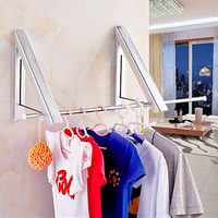 Collapsible Wall Hangers For Clothes With Hook Adjustable Mini Wall Bathroom Balcony Collar Hanger