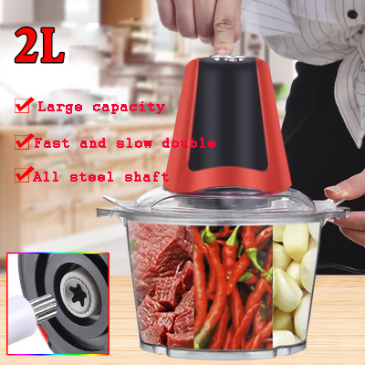 2L/3L Electric Meat Grinder Powerful Meat Grinder Stainless Steel Household Food Processor Meat Kitchen Blender Cutter