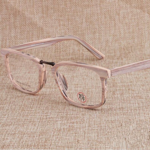 6cc2576765 Vintage Square Wood Eyeglass Frames Full Rim Myopia Rx able Glasses Top  Quality unisex Spectacles Brand New