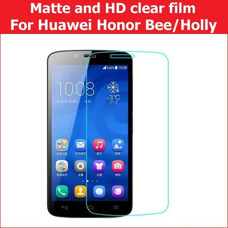 """ホット! HD 明確な光沢フィルム Huawei 社の名誉蜂 y5c 4.5 """"アンチグレアマットフィルム Huawei 社の名誉ホリー 5.0 """"Lcd スクリーンフィルム + 布"""