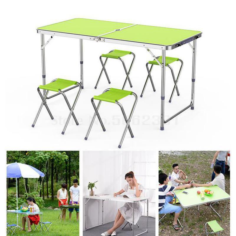Folding table outdoor stalls push folding table dinette portable home simple promotion table(China)