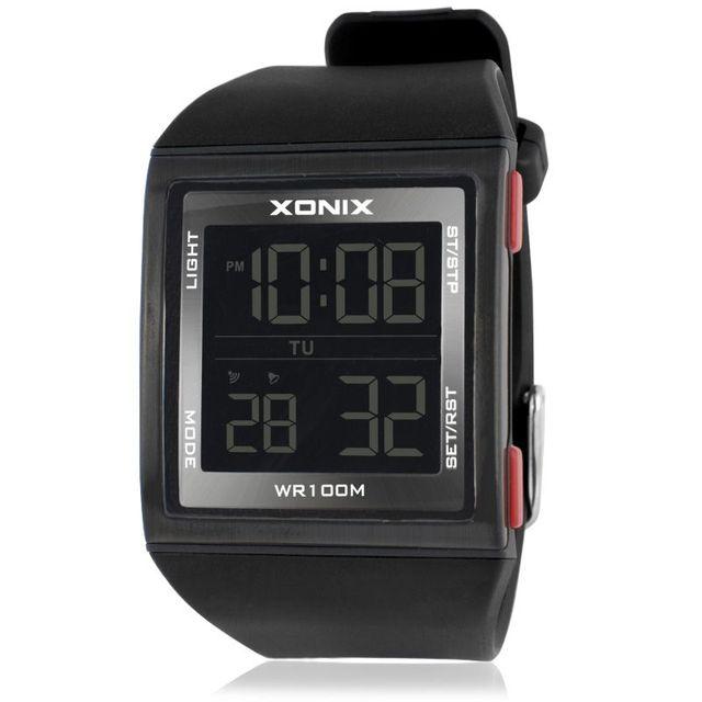 חדש אופנה עסקים דיגיטלי תכליתי LED Waterproof אלקטרוני שעונים ספורט גברים חיצוני שחייה GM