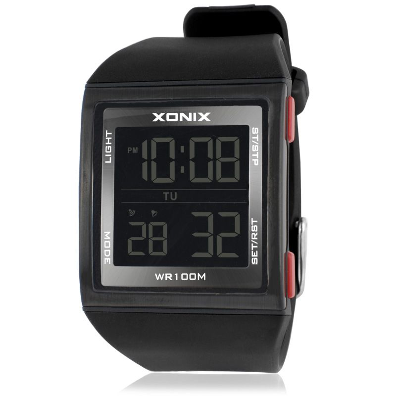 XONIX New Fashion Business Digital Versatile LED Waterproof Electronic Watches Sports Men Outdoor Swimming GM