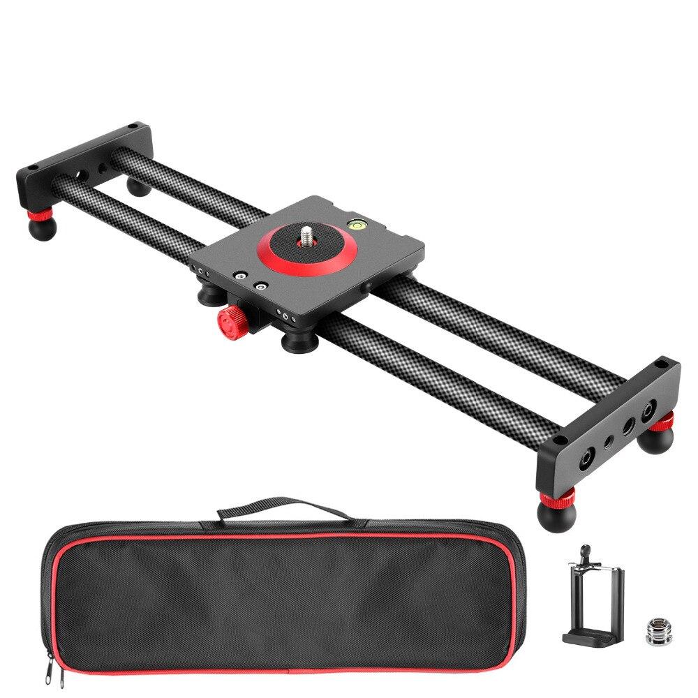 Neewer камера ползунок углерода волокно железная дорога Долли, 16 дюйм(ов) ов)/40 см с 4 подшипники для смартфонов Nikon Canon sony