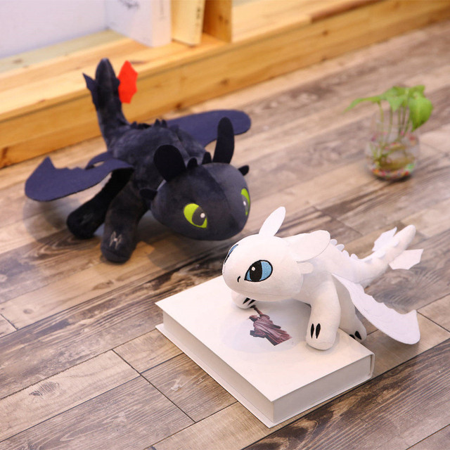 Two style How to Train Your Dragon 3 60cm Toothless light Fury Toys Anime Figure Night Fury Dragon Plush Doll Toys For Children