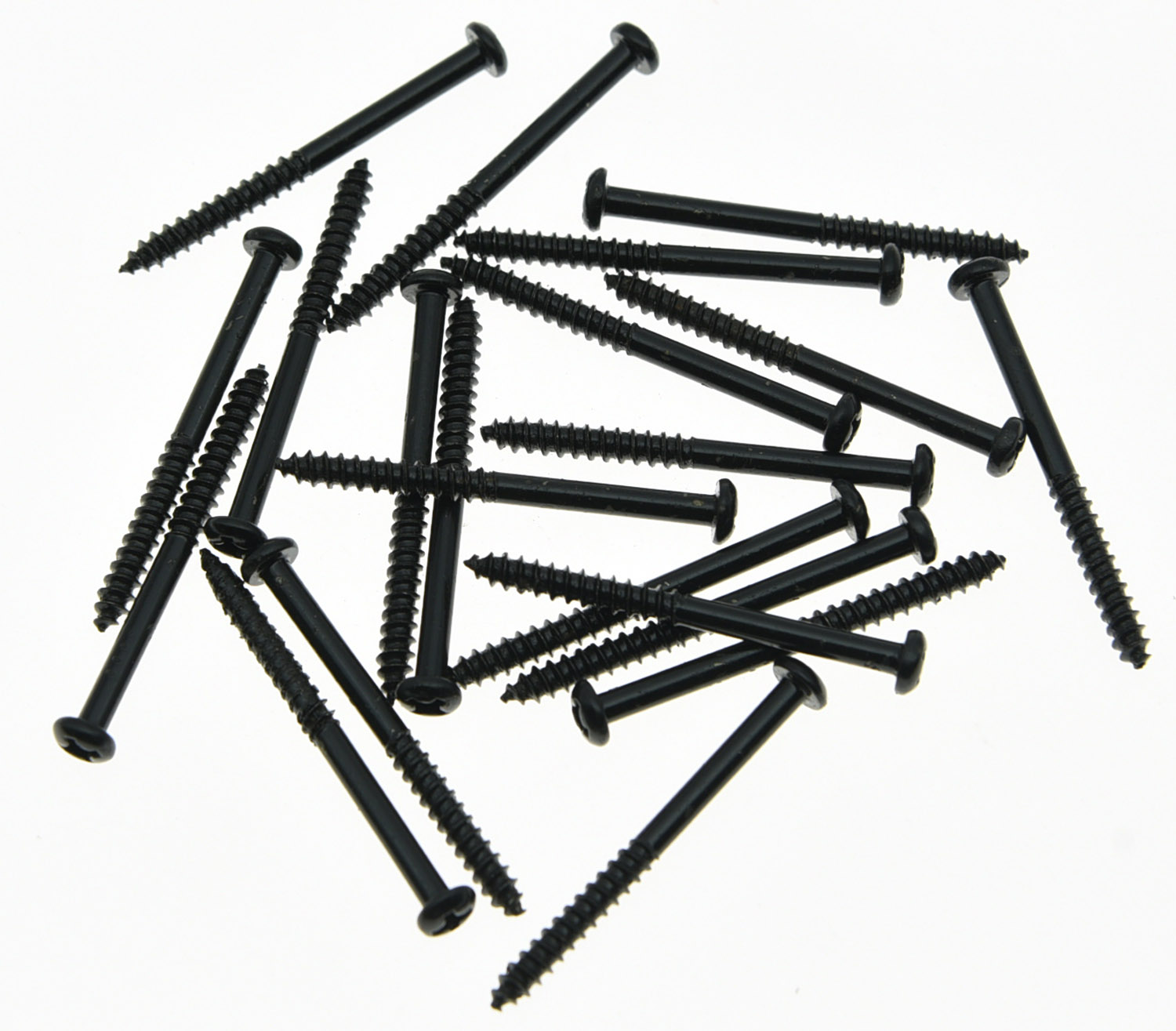 KAISH 20x Bass Pickup Mounting Screws for PB JB  P90 Pickups Black kaish black p90 high power sound neck