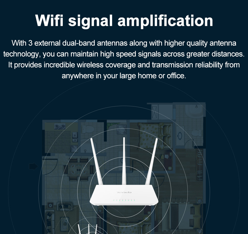 Tenda F3 300mbps Wireless Router Easy Setup Version Aeproduct