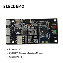 4.2 Bluetooth Receiver Board CSR64215 Bluetooth Module Lossless APT-X Wireless Bluetooth Audio Receiver Board lusya bluetooth 5 0 qcc3003 wireless receiver ess9023 dac decoder hifi preamplifier lossless bluetooth adapter t0014