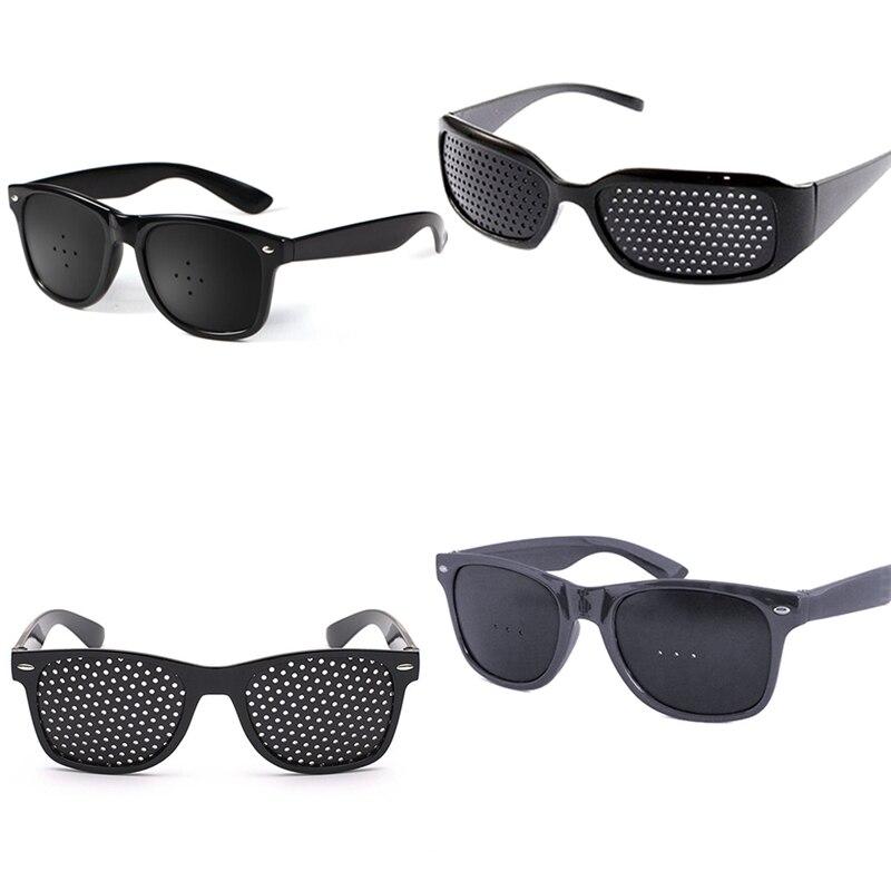 New Arrival Black Unisex Vision Care Pin hole Eye Exercise Eyeglasses  Glasses Eyesight Improve plasticHigh Quality
