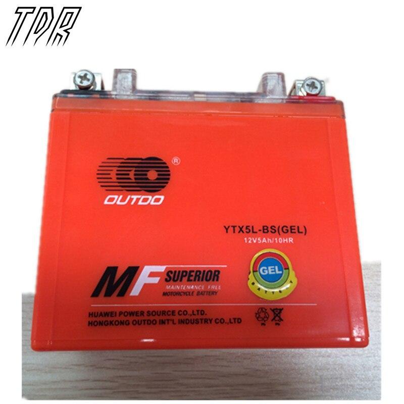 TDR GEL YTX5L BS GTX5L BS ATV Battery for Polaris Predator Outlaw Sportsman 50 80 90 Moto Accessories HHY