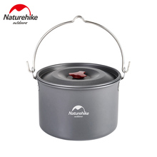 Naturehike 4-6 Person Hard Alumina Pot Outdoor Hanging Camping Picnic Cookware Campfire Food Cooker NH17D021-G