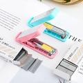Geometric manual stapler No. 10 silver Staples set Mini grapadora papelaria Stationery office accessories school supplies A6573
